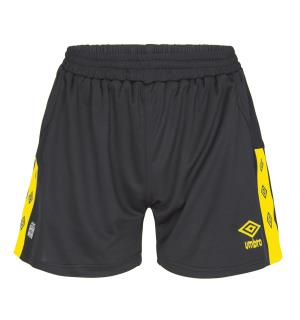 UMBRO UX Elite Shorts W Sort/Gul 38